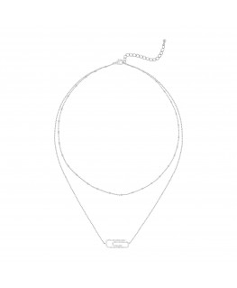 Neya necklace - Fine White...